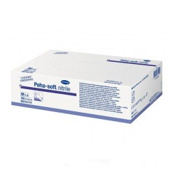 Peha-Soft Nitrile Guantes Desechables de Nitrilo Talla M 100 Unidades