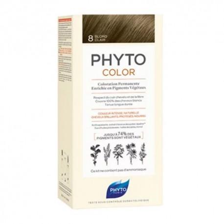 Phytocolor Coloración Permanente 8 Rubio Claro 1 Unidad