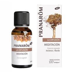 Pranarom La Difusión Meditación Esencia Sagrada Incienso y Nardo 30 ml.