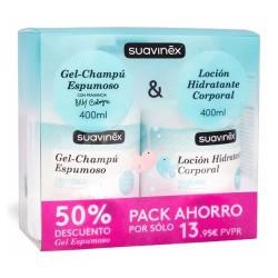Suavinex Pack Ahorro Gel-Champú Espumoso 400 ml. + Loción Hidratante Corporal 400 ml.