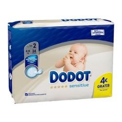 Dodot Sensitive Pañal Recién Nacido Talla 2 4-8 kg. 34 Unidades