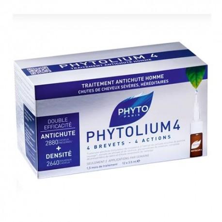 Phytolium 4 Tratamiento Anticaída Estimulador de Crecimiento Hombre 12 Ampollas