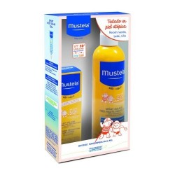 Mustela Pack Leche Solar SPF 50+ 300 ml. + Leche Solar Facial SPF 50+ 40 ml.