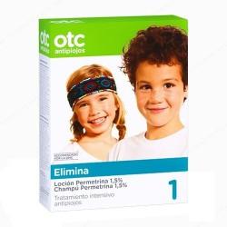 OTC Antipiojos 1 Elimina Pack Loción + Champú Permetrina 1,5%