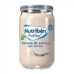 Nutribén Potitos Suprema de Merluza Con Arroz 235 gr.