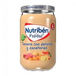 Nutribén Potitos Ternera Con Patatas y Zanahorias 235 gr.