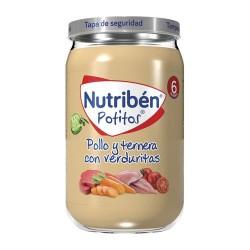 Nutribén Potitos Pollo y Ternera Con Verduritas 235 gr.