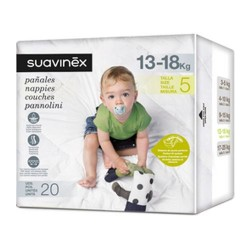 Suavinex Pañales Talla 5 (13 - 18 Kg) 20 Unidades