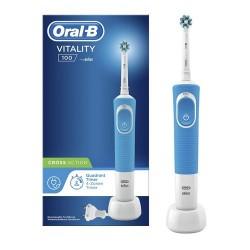 Oral-B Vitality 100 CrossAction Cepillo Eléctrico Azul 1 Unidad