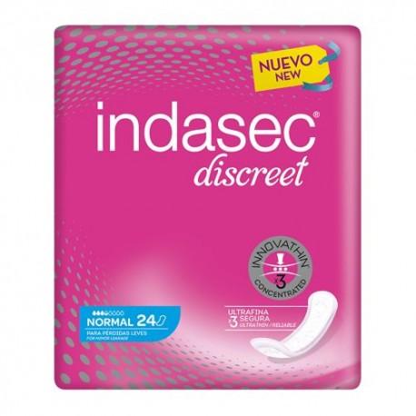 Indasec Discreet Compresas Normal 24 Unidades