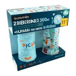 Suavinex Pack Biberones Picnic Party 2x360 ml.