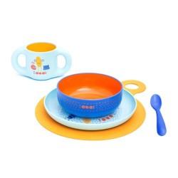 Suavinex Vajilla de Aprendizaje Infantil Booo Azul +6M 1 Unidad