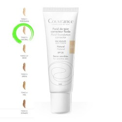 Avene Couvrance Maquillaje Fluido Oil-Free 2.0 Natural SPF20+ 30 ml.