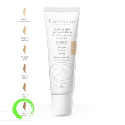 Avene Couvrance Maquillaje Fluido Oil-Free 5.0 Dorado SPF20+ 30 ml.