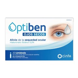 OPTIBEN OJOS SECOS UNIDOSIS 0,25 ML 20 AMPOLL