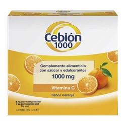 Cebion 1000 Vitamina C Sabor Naranja 12 Sobres