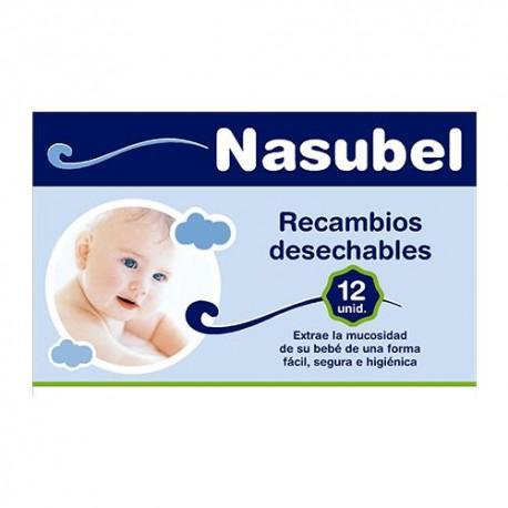 NASUBEL RECAMBIOS ASPIRADOR NASAL 12 UD