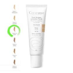 Avene Couvrance Maquillaje Fluido Oil-Free 2.5 Beige SPF20+ 30 ml.