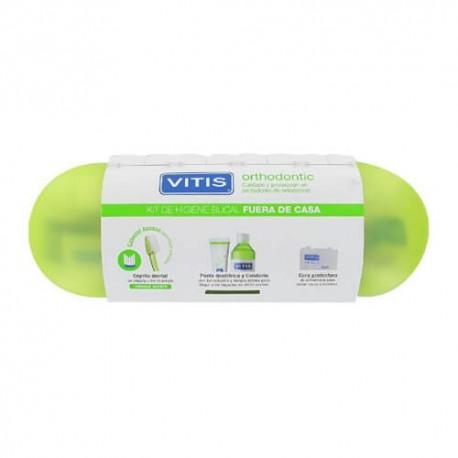 Vitis Kit Orthodontic Access Cepillo + Pasta + Colutorio + Seda Dental