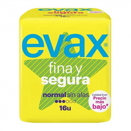EVAX FINA Y SEGURA NORMAL COMPRESAS 16UD