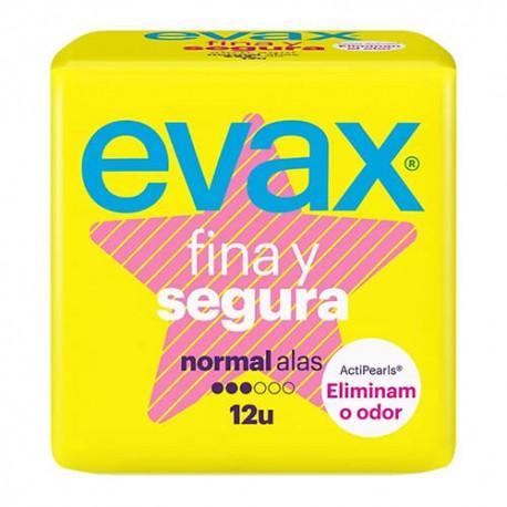 EVAX FINA Y SEGURA NORMAL ALAS COMPRESAS 12 UN