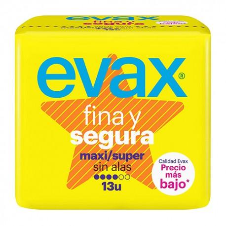 EVAX FINA Y SEGURA MAXI COMPRESAS 13 UND