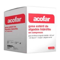 ACOFAR GASA ESTERIL ALGODON 20X40CM 20UD