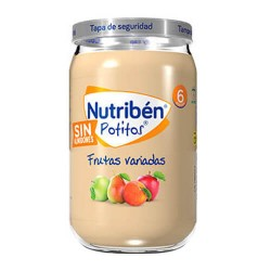 Nutribén Potitos Frutas Variadas Sin Almidones 235 gr.