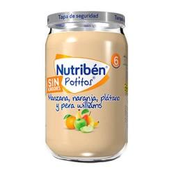 Nutribén Potitos Manzana, Naranja, Plátano y Pera Williams Sin Almidones 235 gr.
