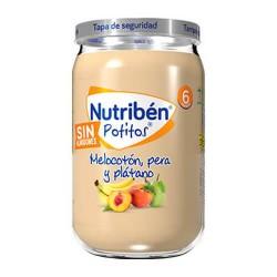 Nutribén Potitos Melocotón, Pera y Plátano Sin Almidones 235 gr.