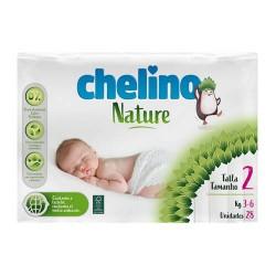 Chelino Nature Pañal 3-6 kg. Talla 2 28 Unidades