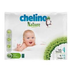Chelino Nature Pañal 9-15 kg. Talla 4 34 Unidades