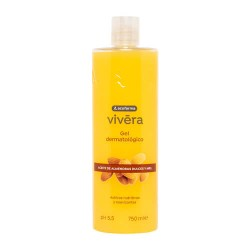 Acofarma Vivera Gel Dermatológico Aceite de Almendras Dulces y Miel 750 ml.