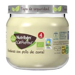 Nutribén EcoPotitos Verduras Con Pollo de Corral 120 gr.