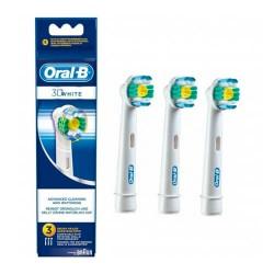 Oral-B Recambios 3D White 3 Cabezales